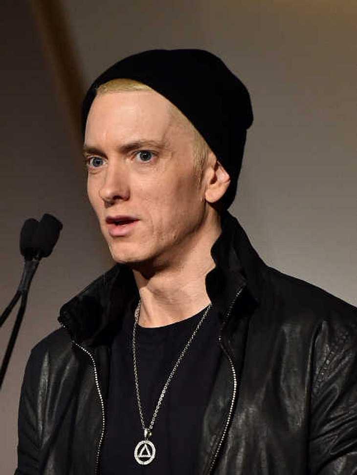 Eminem wirkte abgemagert.