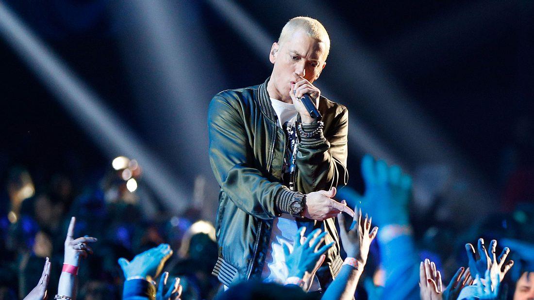 Eminem auf der Bühne