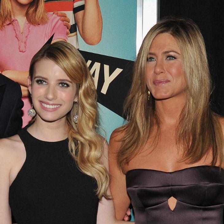 Emma Roberts wird wegen Jennifer Aniston nervös.