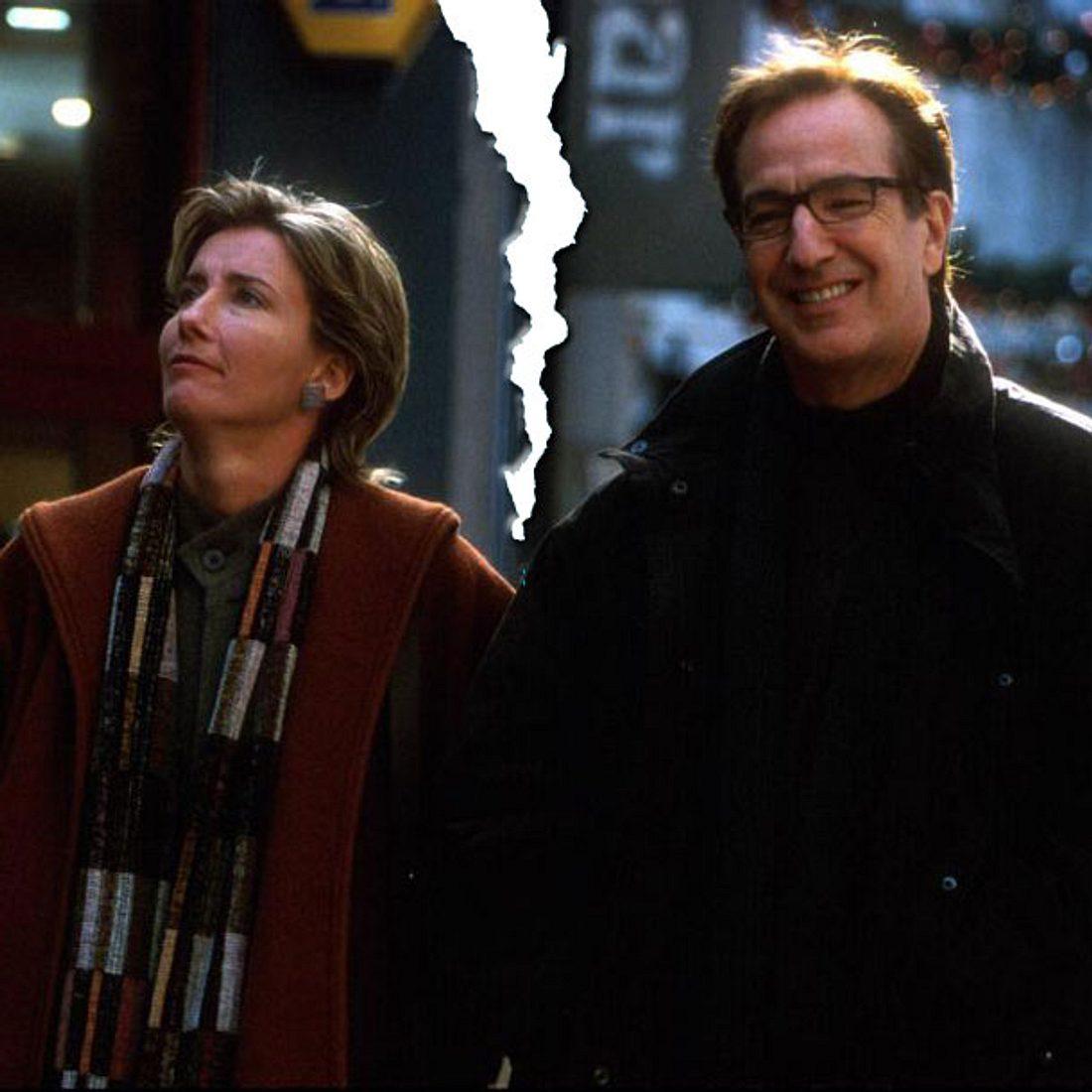 Emma Thompson und Alan Rickmann in Tatsächlich ... Liebe