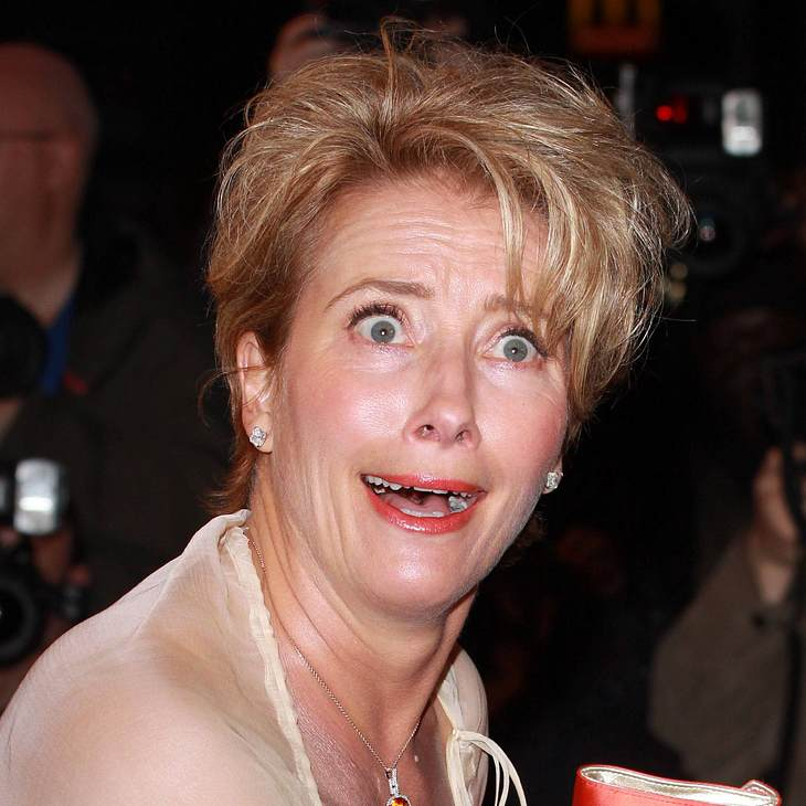 VIP-Grimassen: Einmal komisch gucken, bitte!Ja, das ist mal eine Überraschung:  Emma Thompson total perplex.