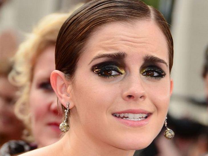 Die Make-Up-Pannen der StarsKlar, Emma Watson (22) will weg von ihrem Klein-Mädchen-Image, aber deshalb gleich mit so viel schwarzem Lidschatten auf böse machen, ist eben auch übertrieben.