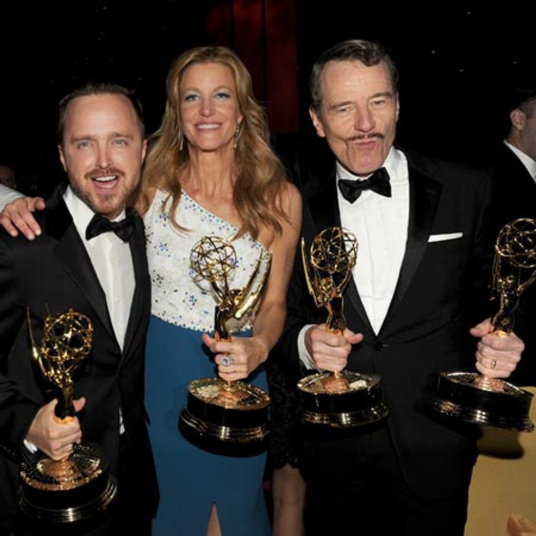 Breaking Bad Emmy Gewinner: Aaron Paul, Anna Gunn, Bryan Cranston