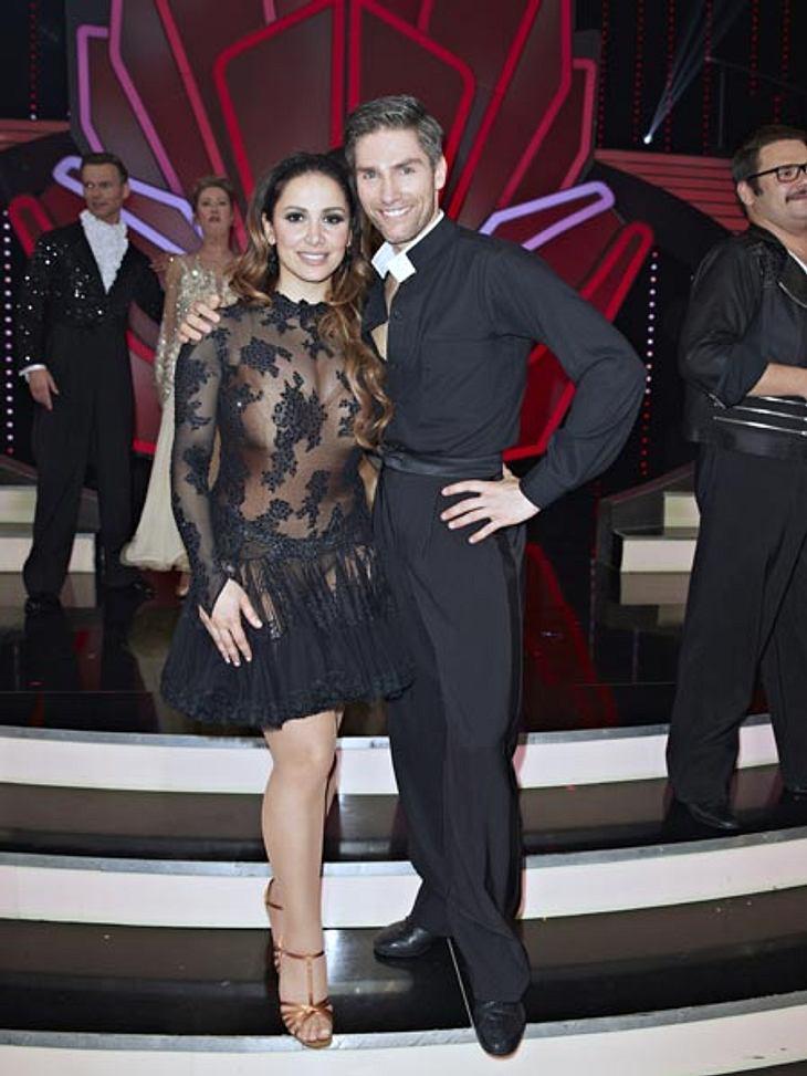 Enissa Amani mit ihrem Tanzpartner Christian Polanc