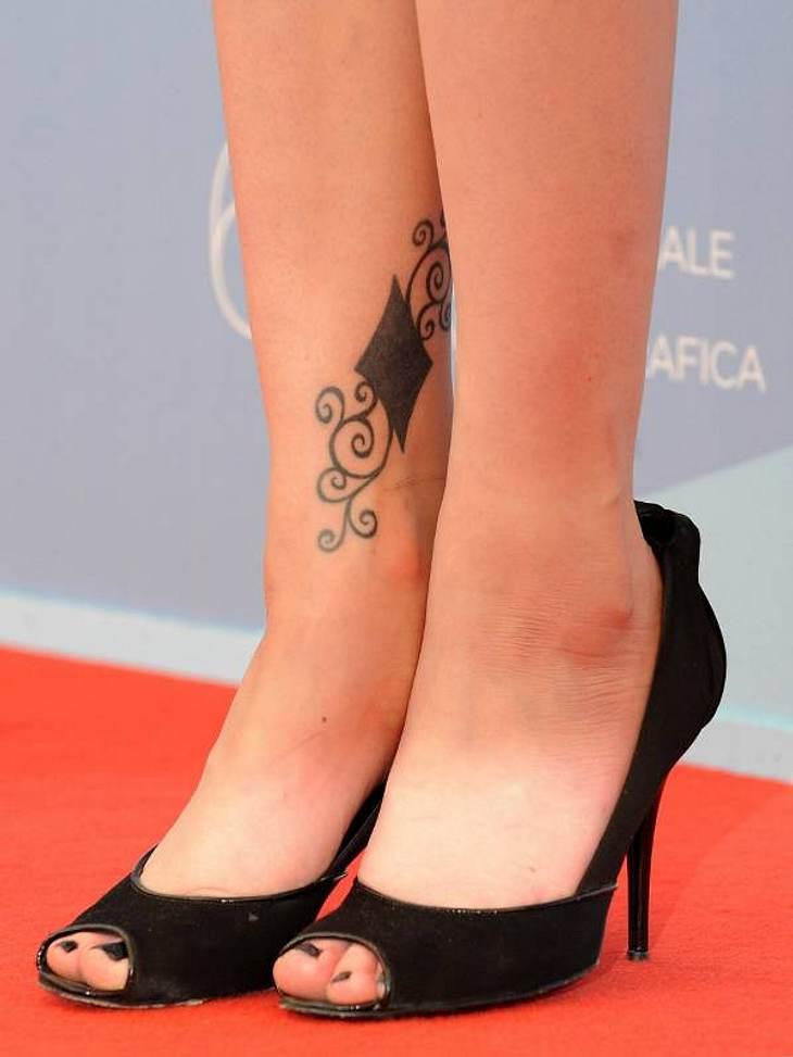 Tattoos: Diese Star-Bilder gehen unter die HautEin eher fragwürdiges Tattoo hat diese Dame: Schön ist definitiv anders, aber die Geschmäcker sind eben verschieden.