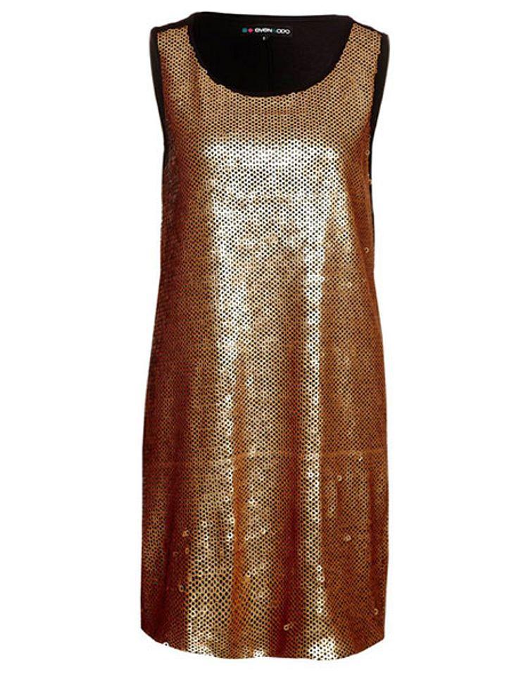 Der Premieren-Look von Kristen StewartGoldenes Kleid von Even & Odd, 49,95 Euro