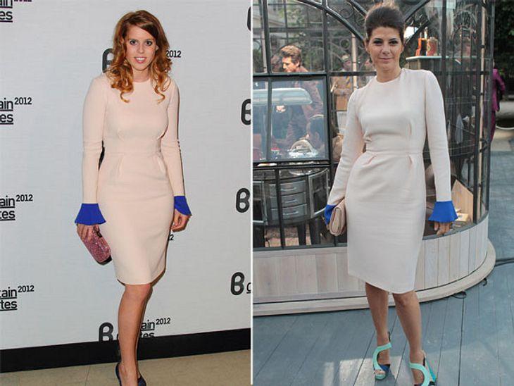 Zwei Stars, ein Kleid: Diese Stars tragen die gleichen Klamotten!Das Dress von Roksanda Ilincic schreit geradezu nach einem Styling-Partner der extravaganten Art. Schauspielerin Marisa Tomei (47) liefert mit ihren Highheels von Aperlaï die