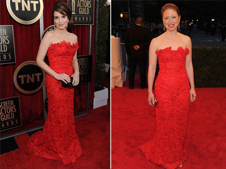 Zwei Stars, ein Kleid: Diese Stars tragen die gleichen Klamotten!Es gibt nichts Peinlicheres, als wenn zwei Stars das gleiche Kleid tragen! Wir schicken die doppelten Look-Lottchen ins Styling-Battle und stellen uns die alles entscheidende