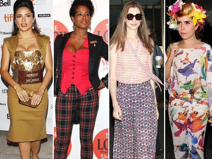 Star-Style: Die größten Fashion-Fiaskos im SeptemberDer September war bunt gemixt, vor allem, was den Geschmack an Klamotten betrifft. Da hat der eine Promi viele modische Lichtblicke und ein anderer langt ständig ins Fashion-Fettnäpfchen.H