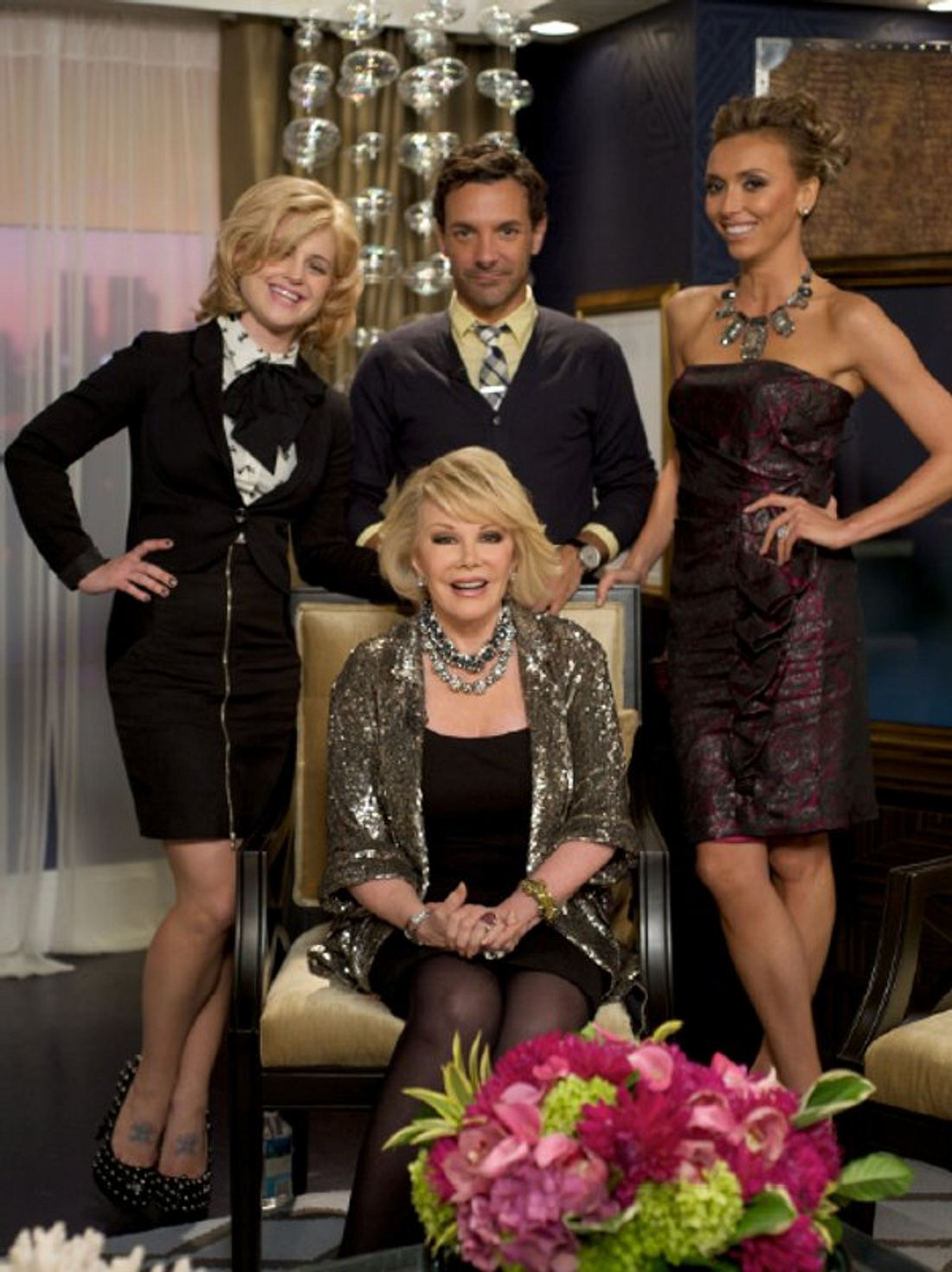Zur Fashion Police gehören: Joan Rivers, Giuliana Rancic, George Kotsiopoulos und Kelly Osbourne