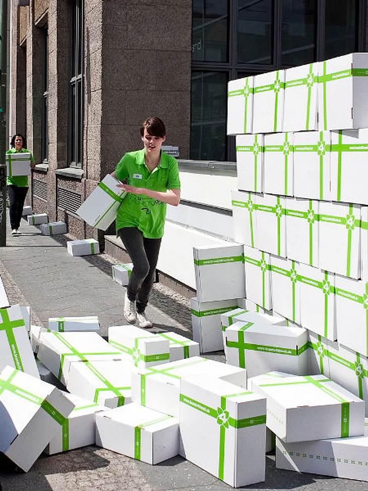 Hunderte Pakete von brands4friends gingen durch die Hände der fashionverrückten Teilnehmerinnen.