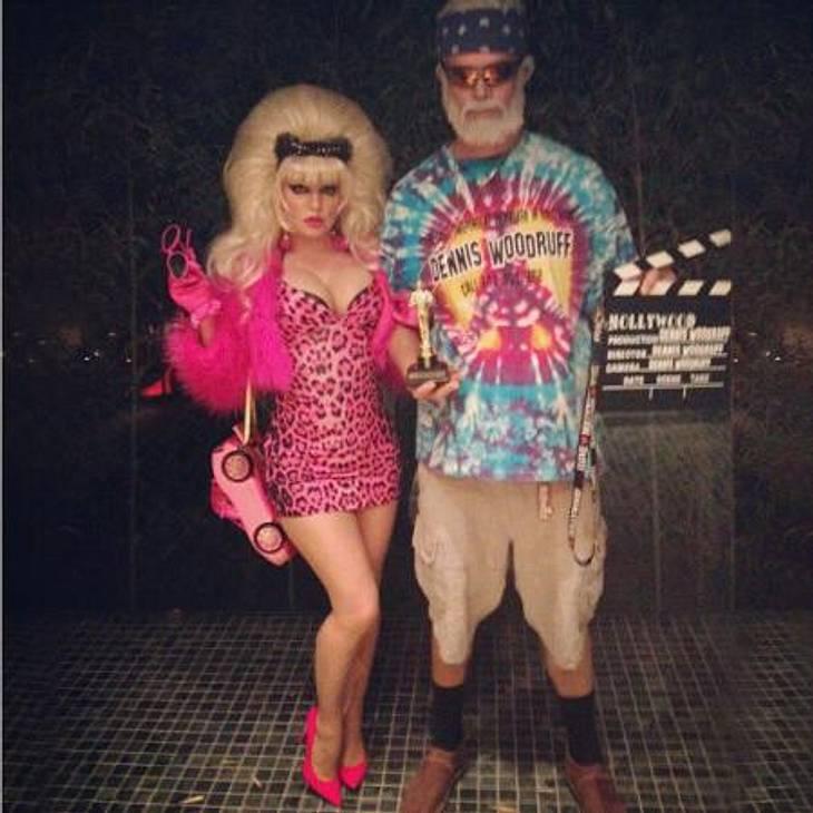 Die schrägsten Hollywood-Kostüme der StarsZusammen mit ihrem Freund Josh Duhamel setzte Fergie allerdings kostümtechnisch noch einen drauf: Die beiden gingen als US-Trash-Pärchen Angelyn und Dennis Woodruf.,