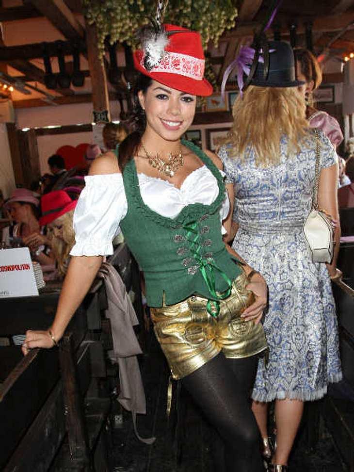 Fernanda Brandao in ihrem ersten Wiesn-Outfit.