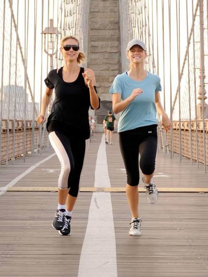 Die Fitnesstrainer der Stars: so macht sich Hollywood fit für den Sommer,Heidi Klum (38), lange Zeit David-Kirsch-Anhängerin, trainiert jetzt mit ihrem Motivationscoach Andrea Orbeck. Sie schwärmt, dass Andrea ihr regelmäßig einen Kick und