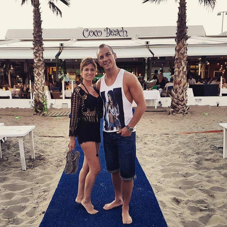Frank Stäbler nahm seine Verlobte Sandra mit nach Ibiza