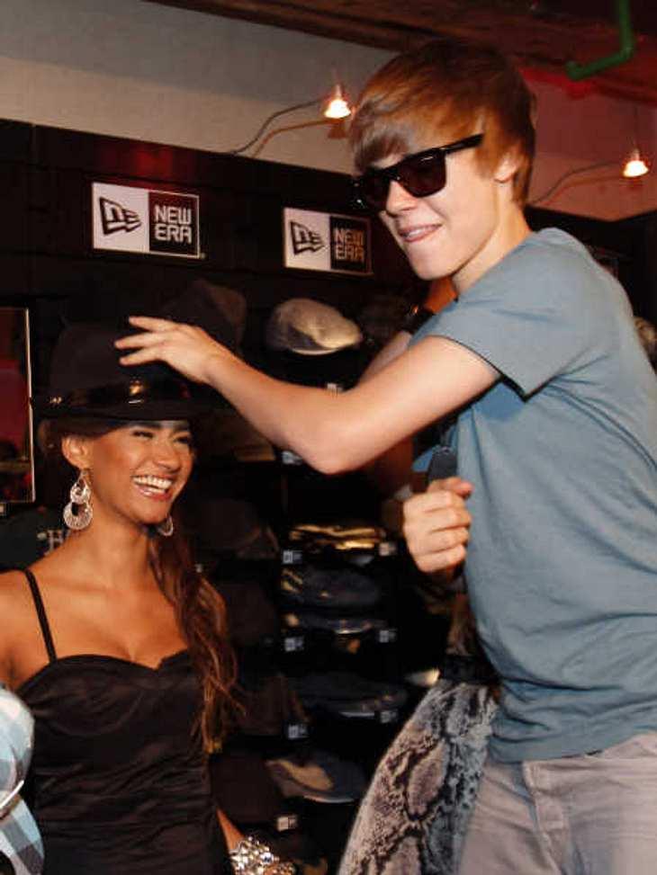 """Gabby Rinne traf Justin Bieber 2010 beim Musikpreis """"Comet""""."""