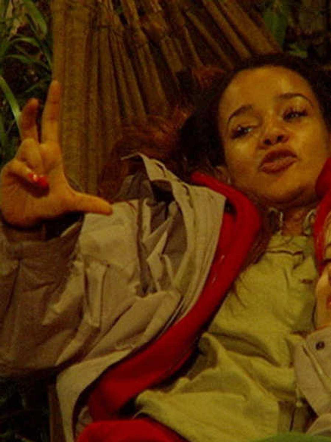 Gabby Rinne gab sich im Dschungelcamp freizügig.