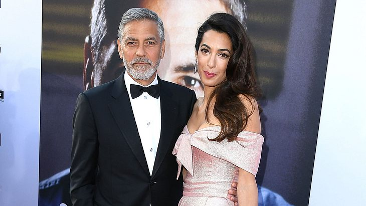 German tabloid claims the Clooney twins aren't allowed the food they want George-clooney-amal_1