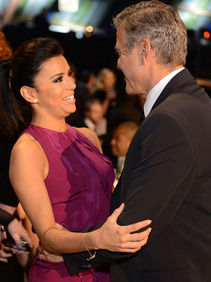 George Clooney flirtete mit Eva Longoria