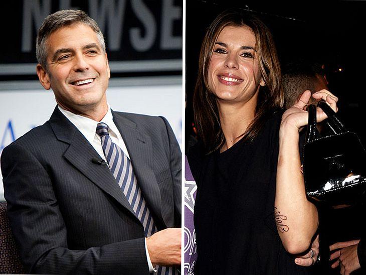 Was läuft da? George Clooney und die schöne Italienerin Elisabetta Canalis
