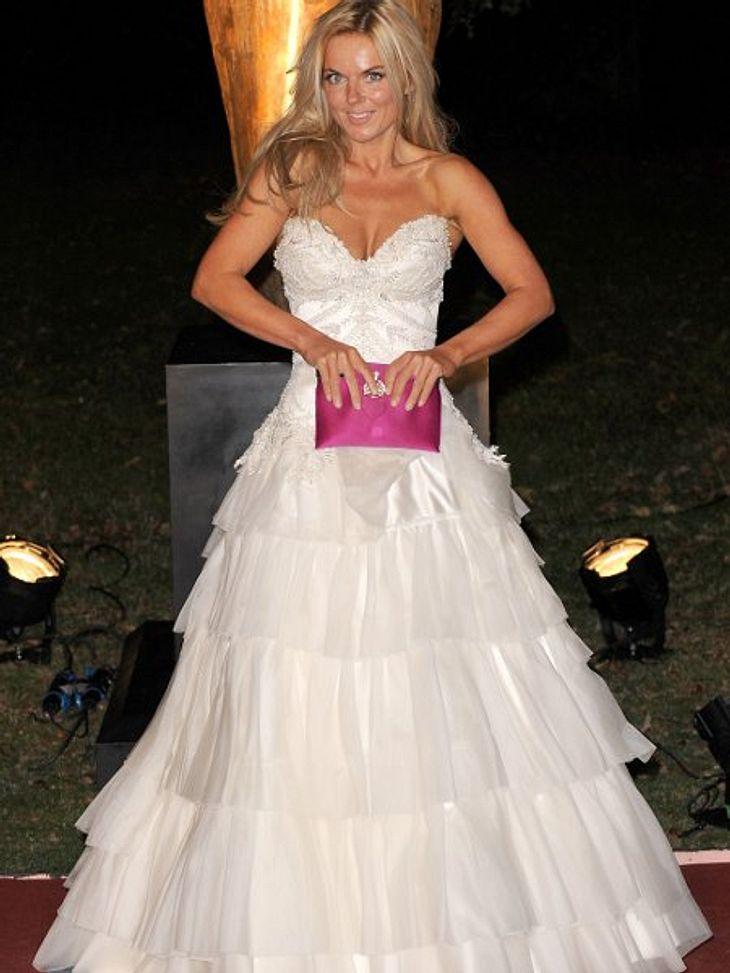 Die Luxus-Ballkleider  der StarsNein, Geri Halliwell möchte nicht zu einer Hochzeit. Aber so ziemlich jede zukünftige Braut würde von so einem Kleid träumen.