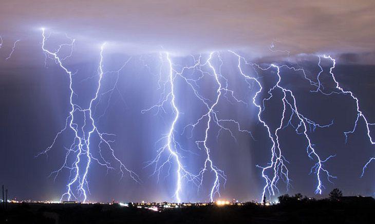 Gewitter über Deutschland