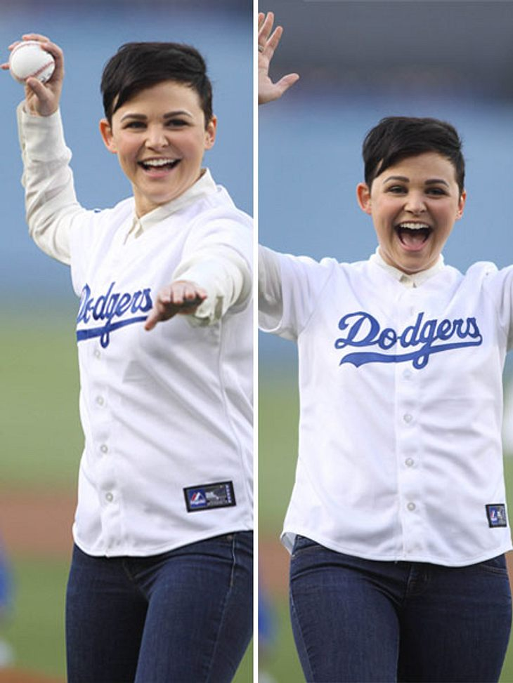 Ginnifer Goodwin beim Baseball.