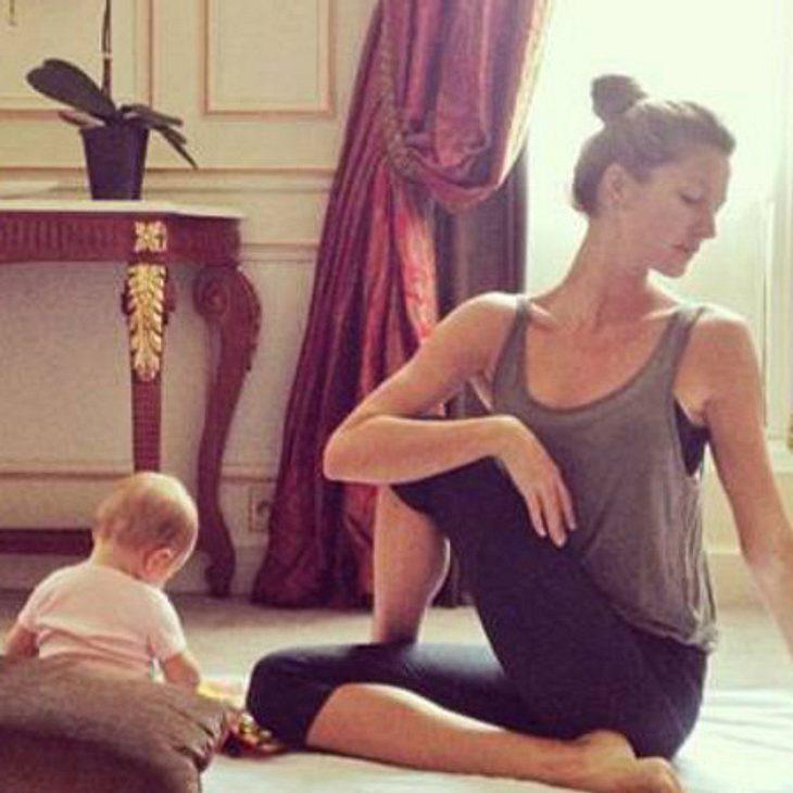 Gisele Bündchen beim Yoga mit ihrer Tochter