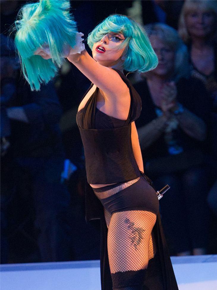 GNTM: Das FinaleLady Gaga zeigte vollen Körpereinsatz.