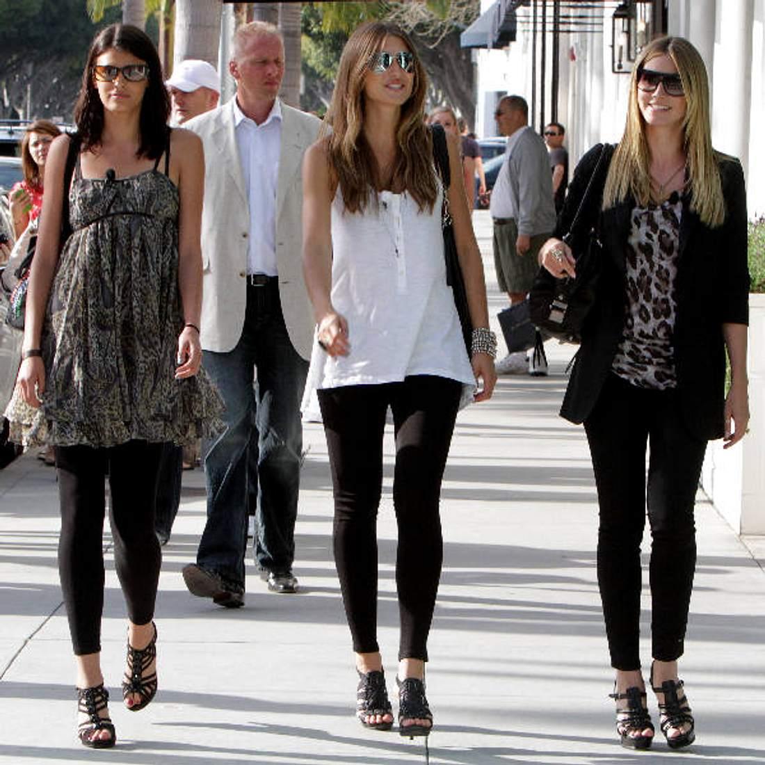 GNTM-Ausflug in Kalifornien: Model-Mama Heidi Klum zusammen mit Alisar Ailabouni und Leyla Mert.