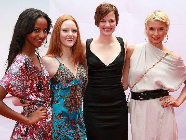 Die Gewinnerinnen der letzten vier Staffel von GNTM: Sara, Barbara, Jennifer und Lena