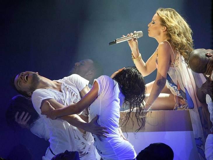 Kylie Minogue sorgte für super Stimmung beim Finale von GNTM.