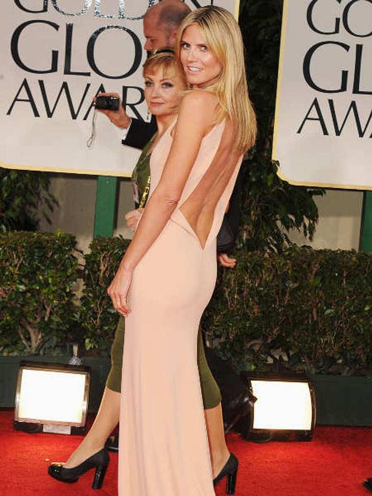"""Golden Globes 2012Heidi Klum (36) wollte bei den """"Golden Globes"""" mit ihrem Rücken entzücken."""