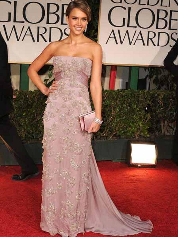 Golden Globes 2012Nach der Geburt wieder fit für den roten Teppich: Jessica Alba (30).