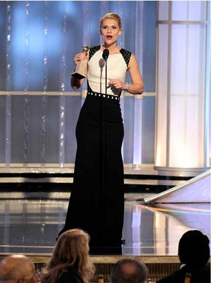 Golden Globes 2012Claire Danes (36) war überwältigt von ihrer Auszeichnung.