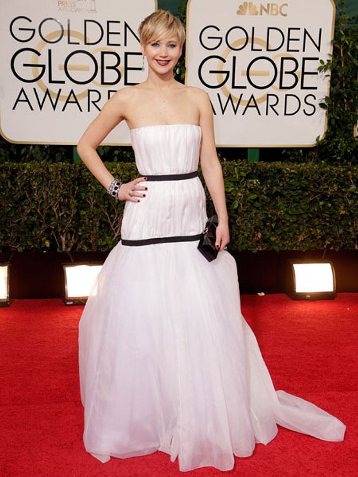 Golden Globe Awards 2014: Jennifer Lawrence trug Dior Couture.