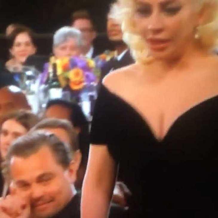 Leonardo DiCaprio macht Lady Gaga bei den Golden Globes 2016 zur Lachnummer