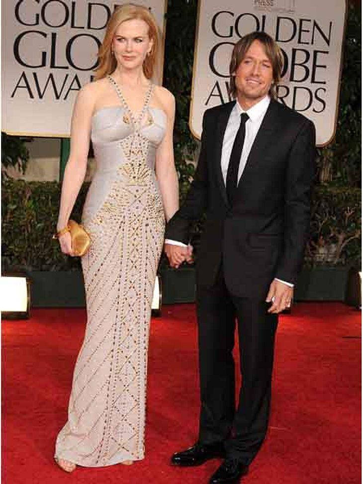 """Golden Globes 2012Nicole Kidman (44) erschien mit ihrem Mann Keith Urban (44) bei den """"Golden Globes"""" 2012."""