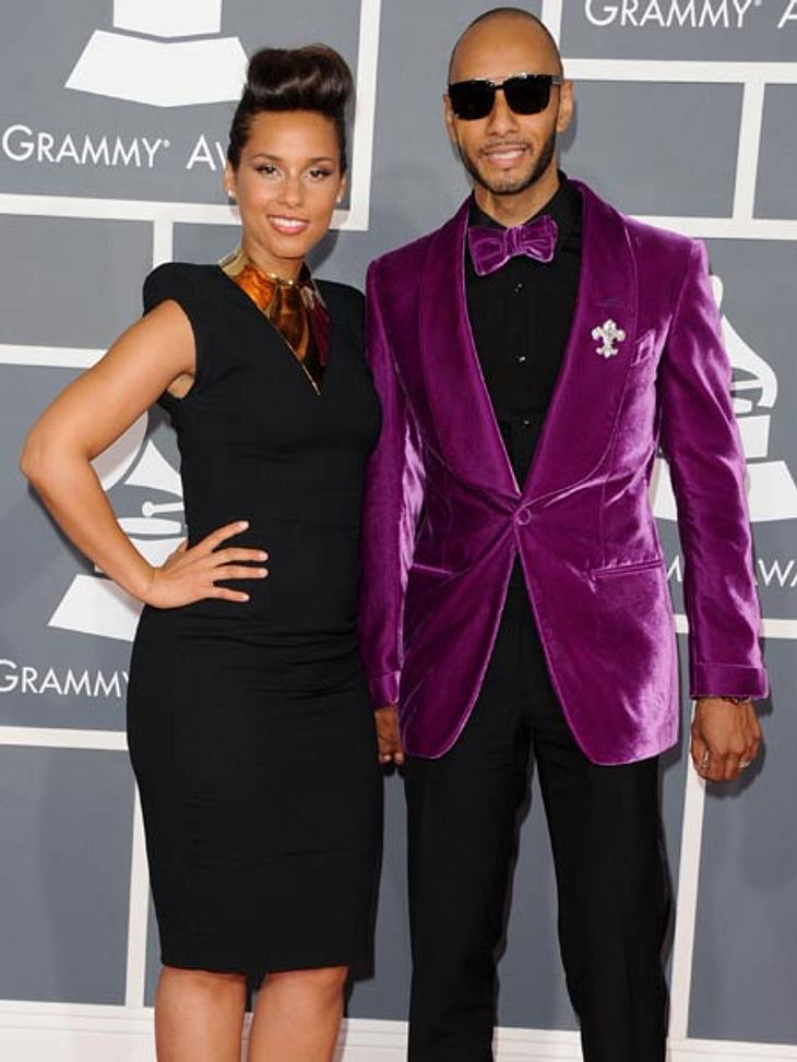 Grammys 2012Alicia Keys mit ihrem Mann Swizz Beatz.
