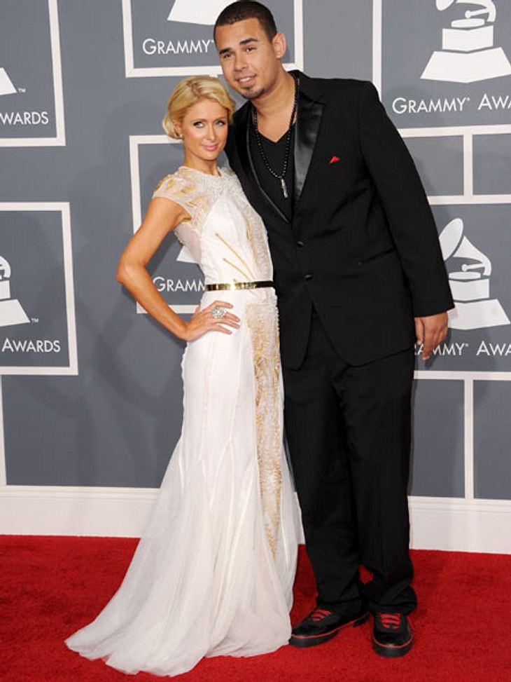 Grammys 2012Neue Liebe: Paris Hilton mit ihrem Freund DJ Afrojack.