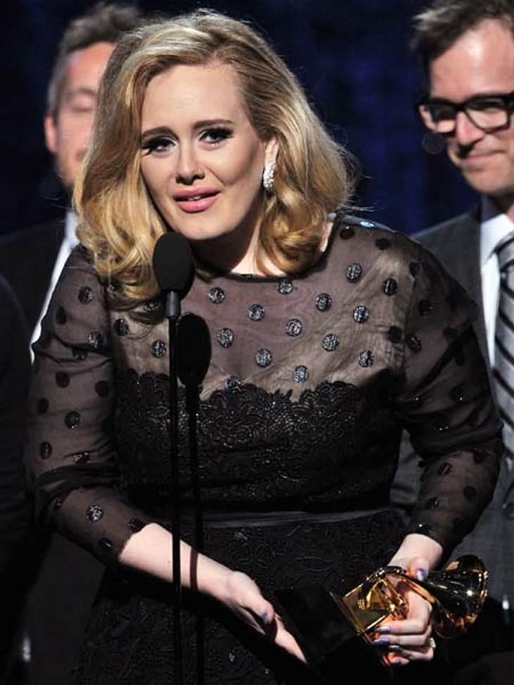Grammys 2012Überwältigt: Adele wusste bei soviel Annerkennung gar nicht, was sie sagen sollte.