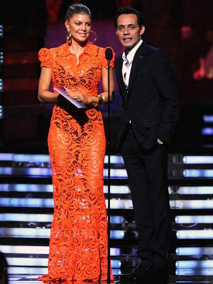 Grammys 2012Fergie hielt zusammen mit JLos Ex Marc Anthony eine Laudatio.