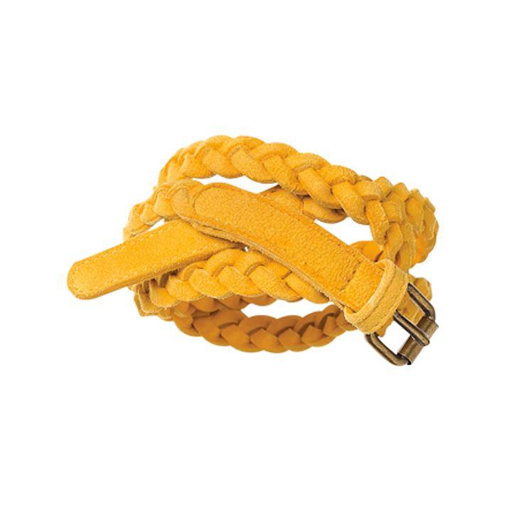 Star-Style: GelbFlechtgürtel: 45 Euro, Gr. XXS-XXL, www.bodendirect.deDer Lässig-Look der Mode-Blogger
