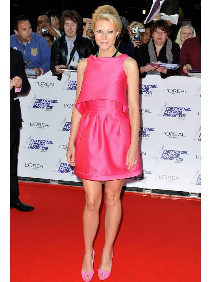 Pink, pink, pink sind alle meine Kleider Gwyneth Paltrow hat sogar ihre Schuhe auf's Kleid abgestimmt.,