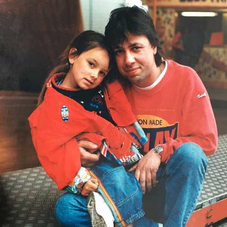 Gzsz Star Janina Uhse Zuckersüßes Kinderfoto Mit Ihrem Papa
