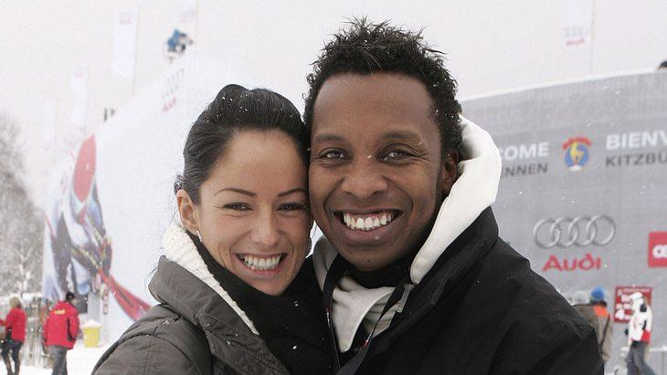 Haddaway 2007 mit Freundin Kessy bei einem Ski-Rennen