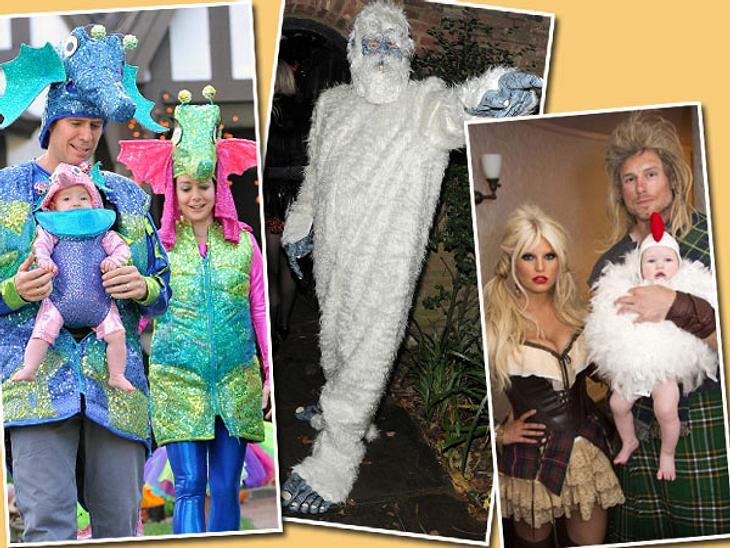Die schrägsten Halloween-Kostüme der StarsEndlich Grusel-Zeit! Am Mittwochabend verwandelte sich ganz Hollywood in eine große Halloween-Party - und für die Stars gab es nur eine Frage: Wer hat in diesem Jahr das originellste Kostüm?Jessica