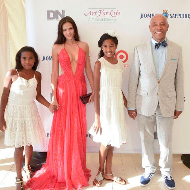 Hana Nitsche mit Russell Simmons und seinen Kids