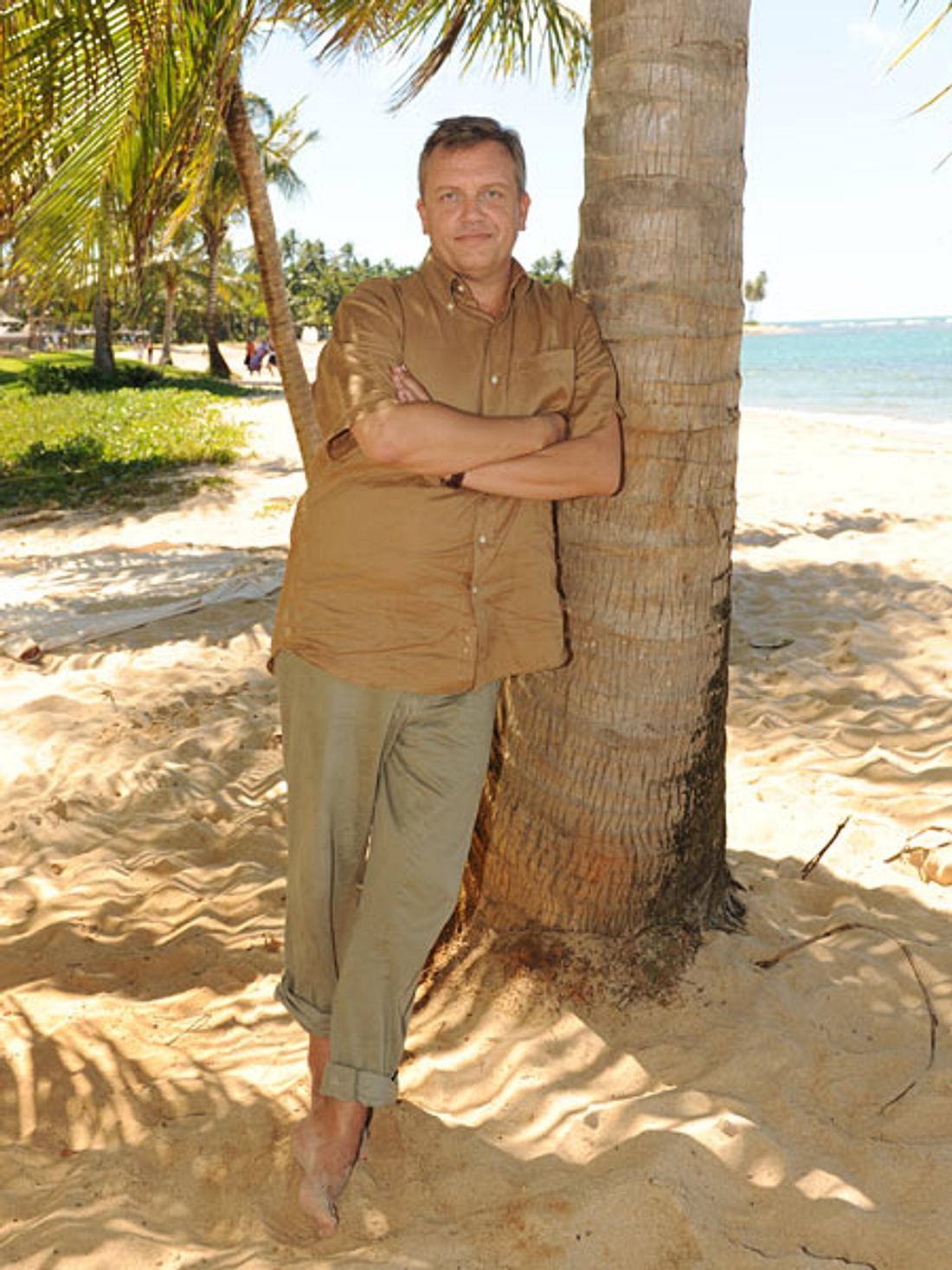 Palmen-Fan: Er liebt es, die Welt zu erobern: Hape Kerkeling. Fürs Traumschiff drehte er in Brasilien.