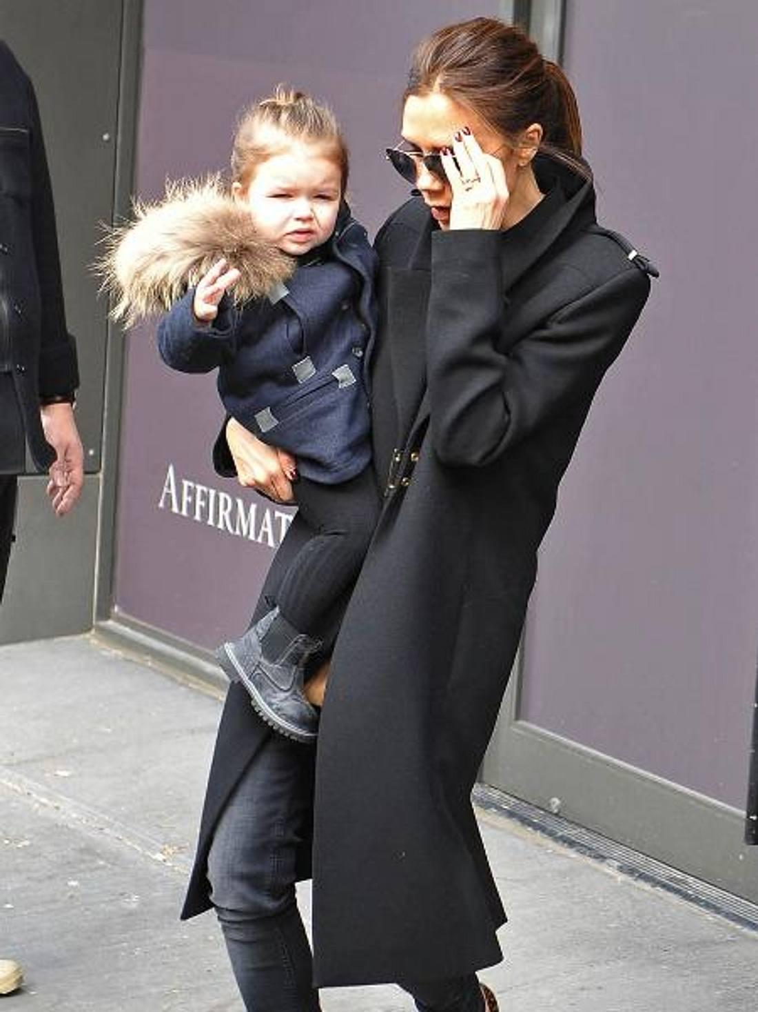 Haper Seven Beckham trägt schon Pelz